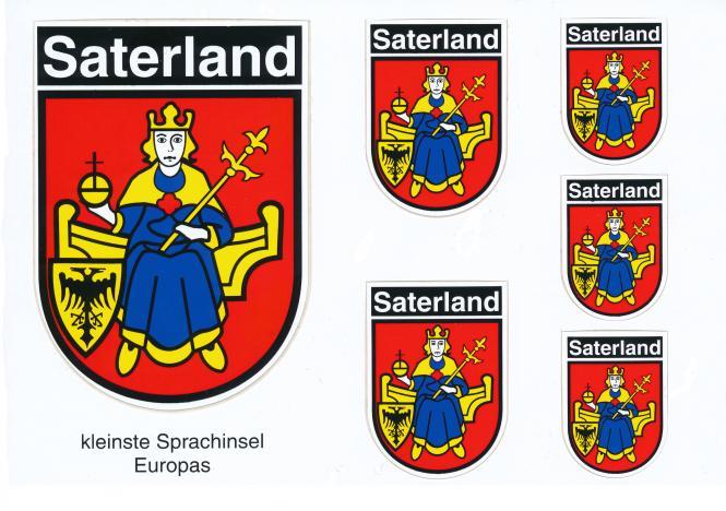 """Aufkleber """"Wappen Gemeinde Saterland"""" in verschieden Größen"""